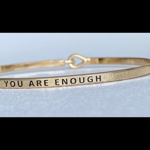 You are enough inspired bangle bracelet